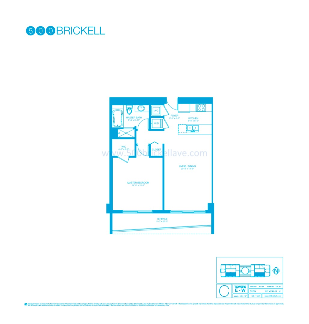 Floor plan image C - 1/1  - 811 sqft image