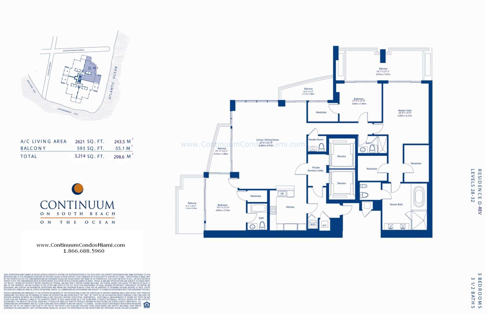 Floor plan image D-reversed - 3/3/1  - 2621 sqft image