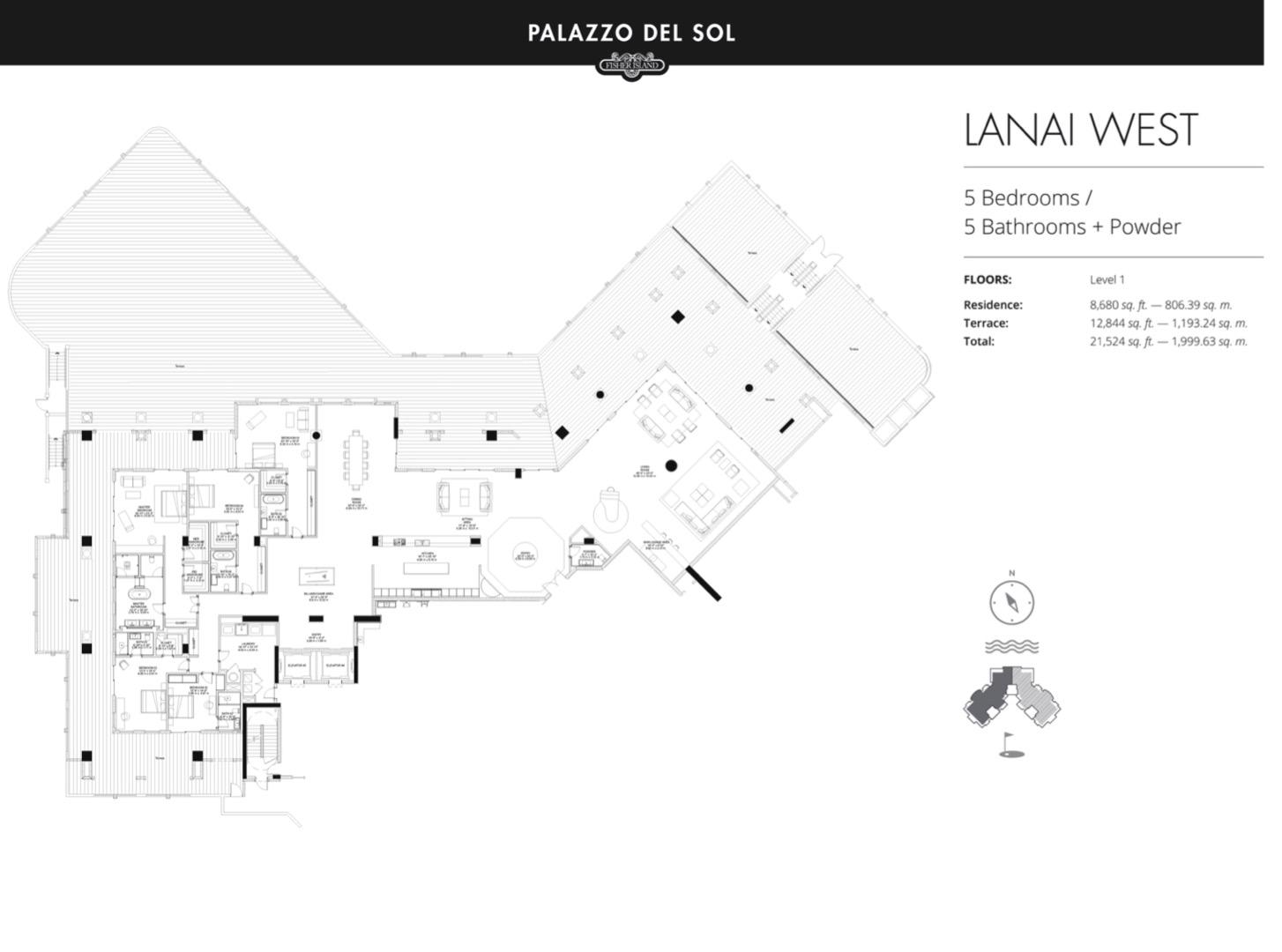 Floor plan image Lanai W/E - 5/5  - 8680 sqft image