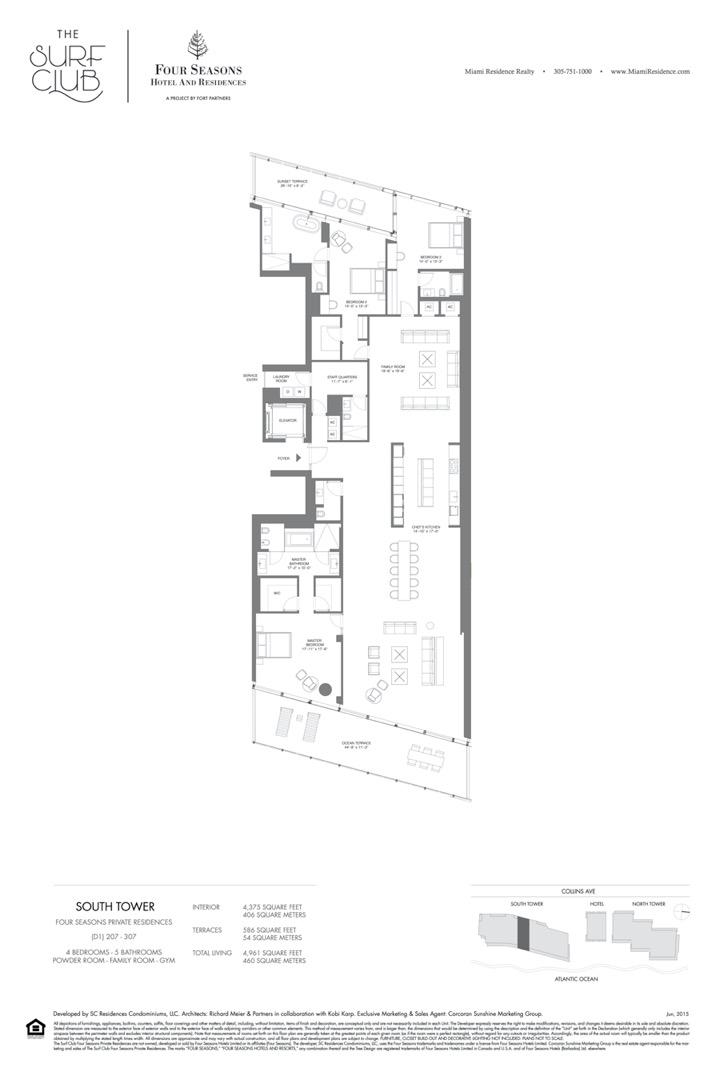 Floor plan image D1 - 4/5/POWDER ROOM/FAMILY ROOM/GYM  - 4961 sqft image