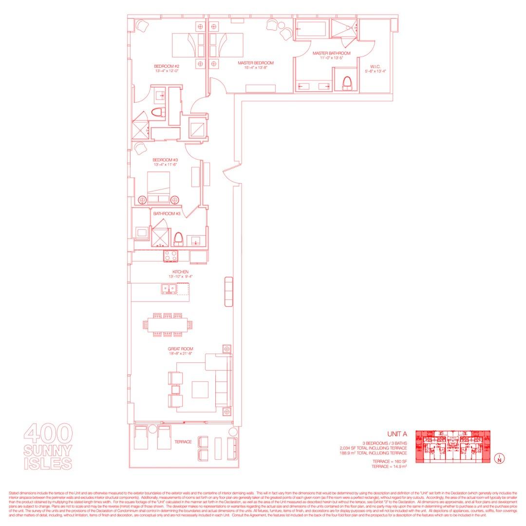 Floor plan image 15 - 3 Beds / 3 Baths  - 2034 sqft image