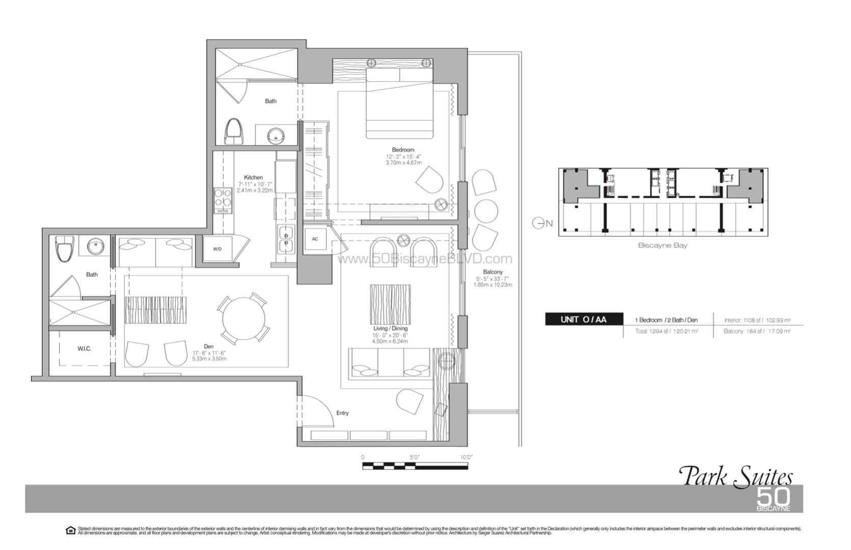 Floor plan image Park Suites AA-O - 1/2  - 1108 sqft image