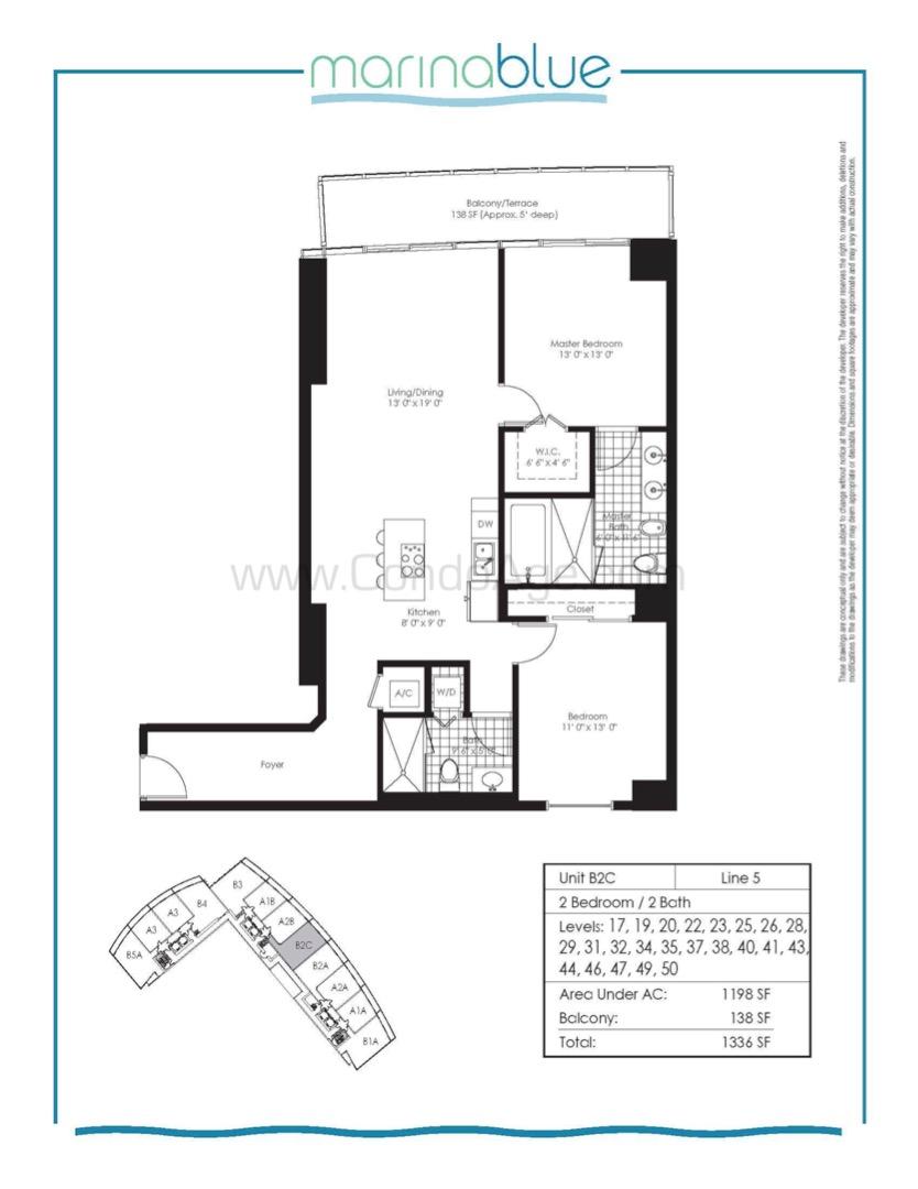Floor plan image B2C - 2/2  - 1198 sqft image