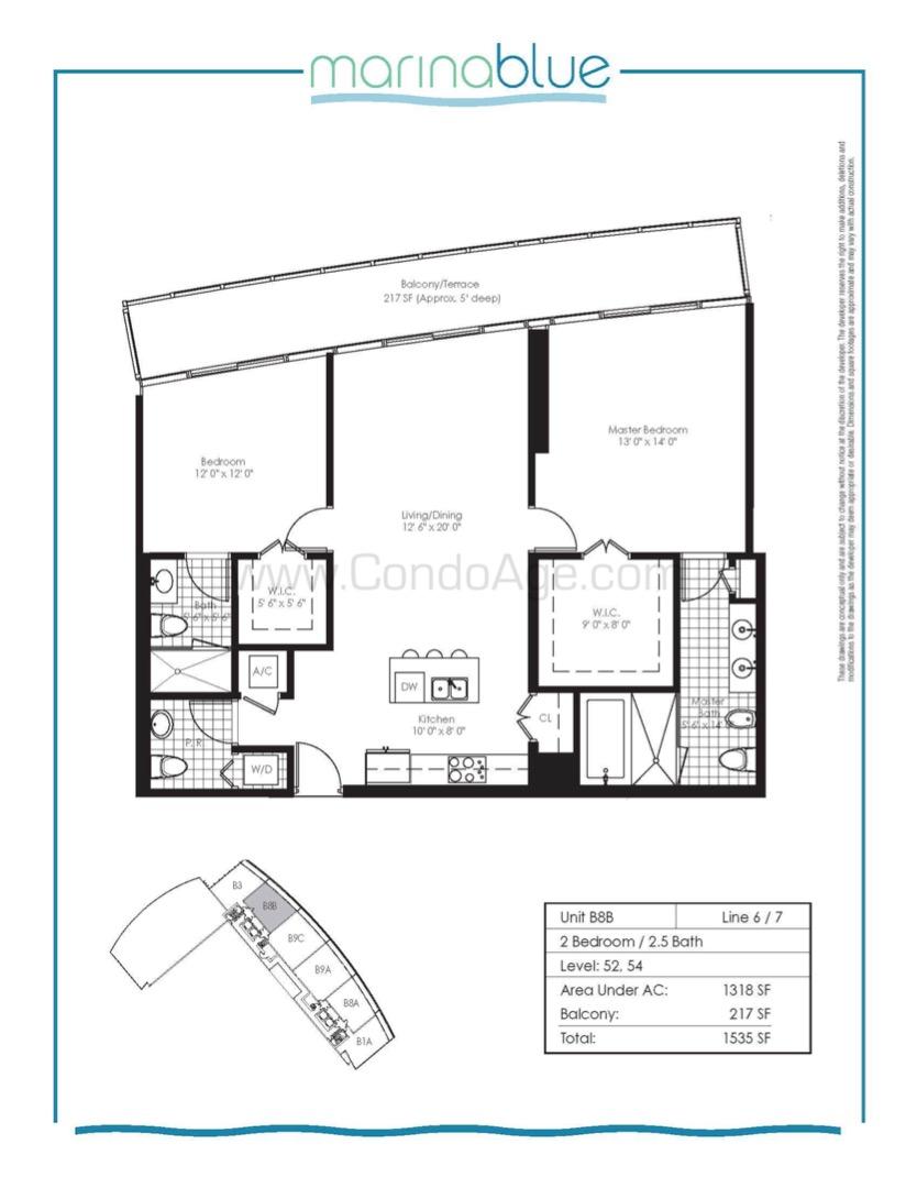 Floor plan image B8B - 2/2/1  - 1318 sqft image