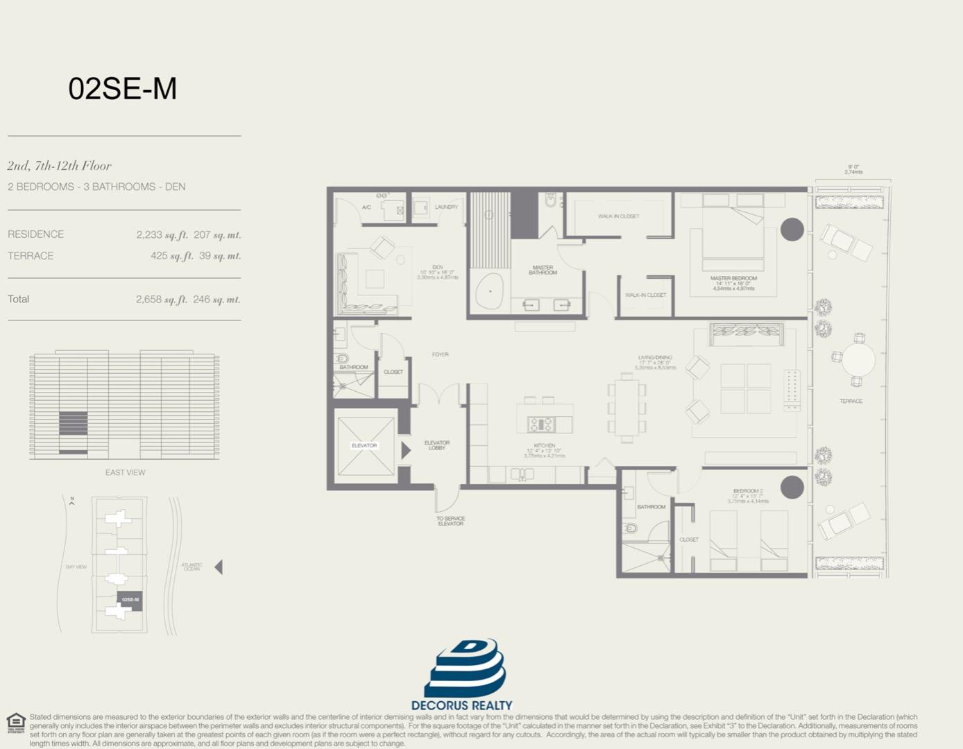 Floor plan image 02SE-M - 2/3  - 2233 sqft image