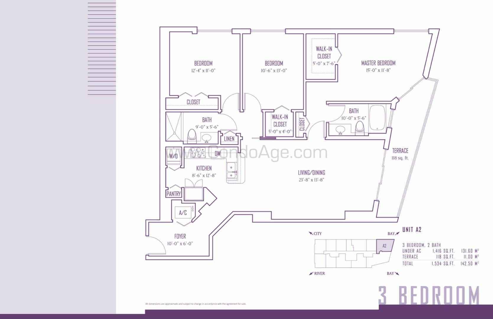 Floor plan image A2 - 3/2  - 1416 sqft image