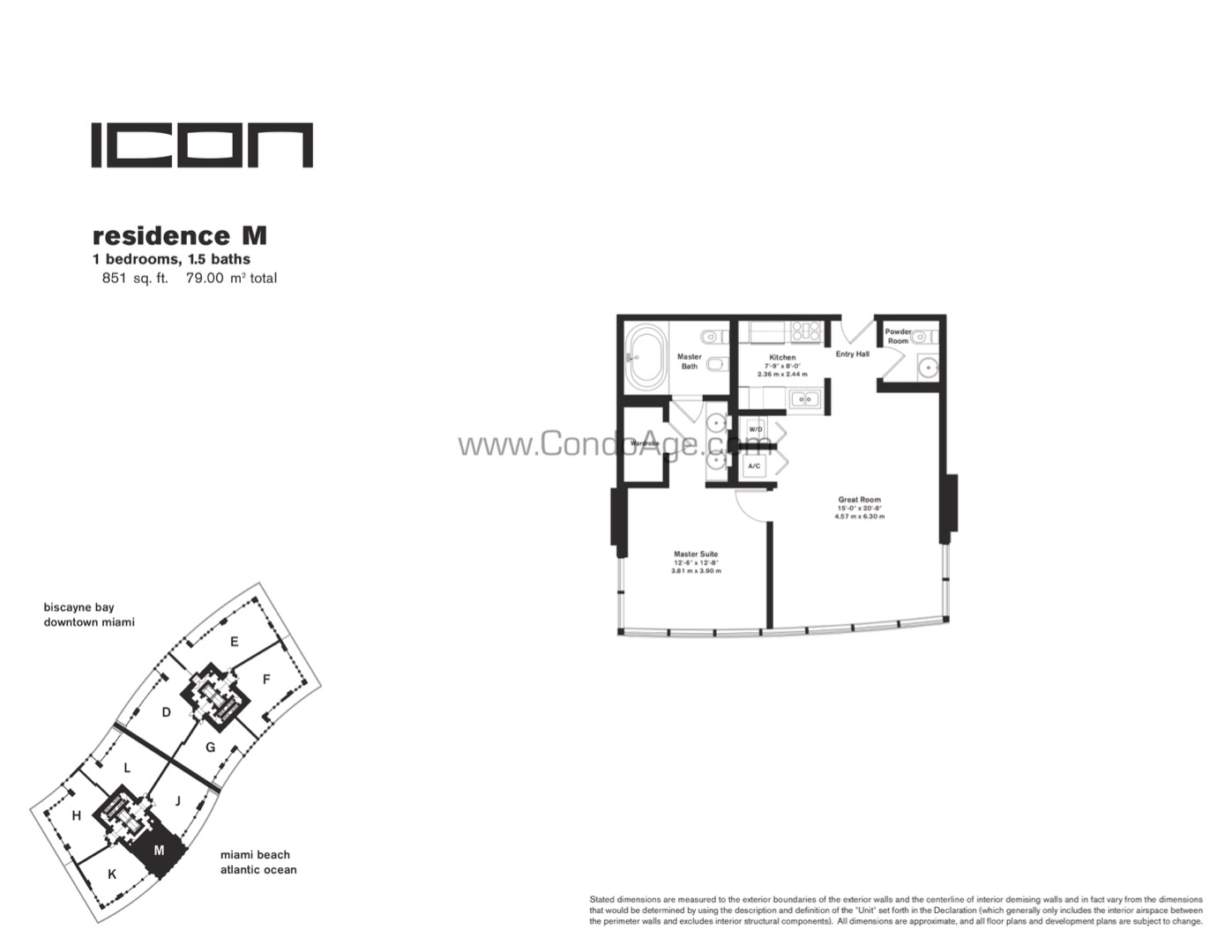 Floor plan image M - 1/1/1  - 851 sqft image