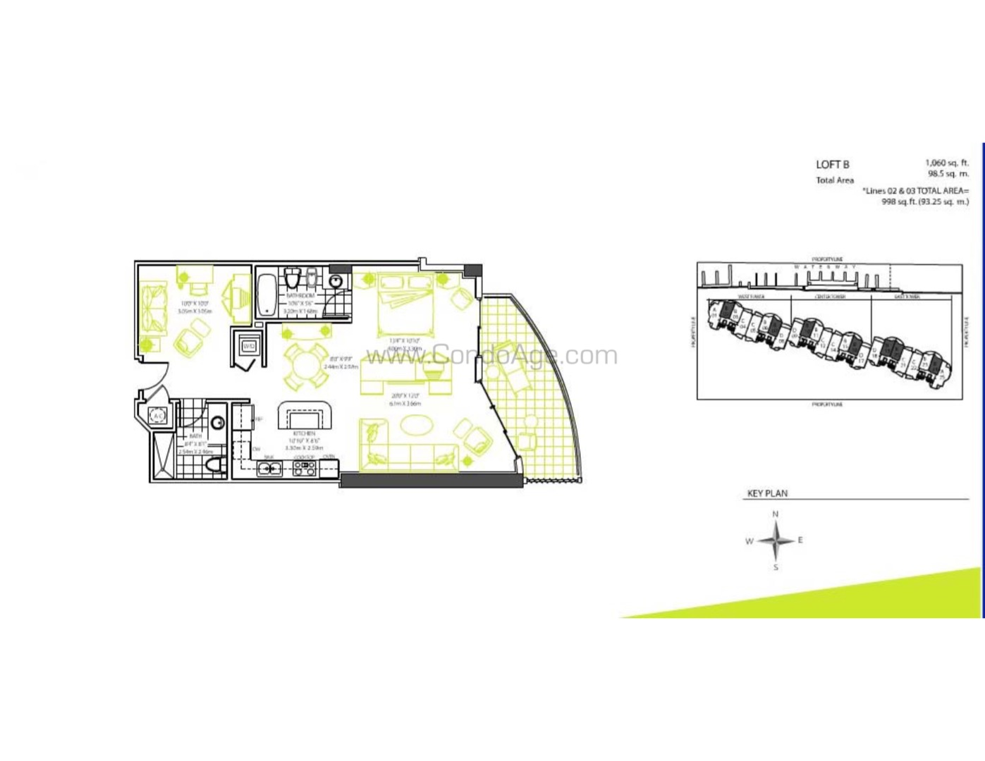 Floor plan image B - 2/2  - 1060 sqft image