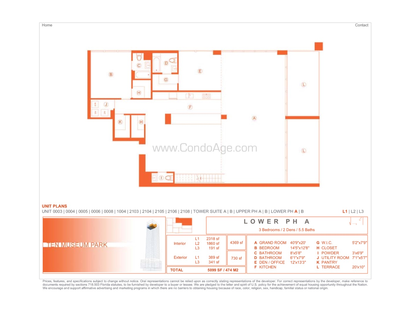 Floor plan image LPHA - 5/5/2  - 4369 sqft image