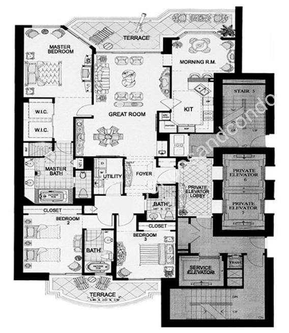 Floor plan image Milano - 3/3  - 2185 sqft image