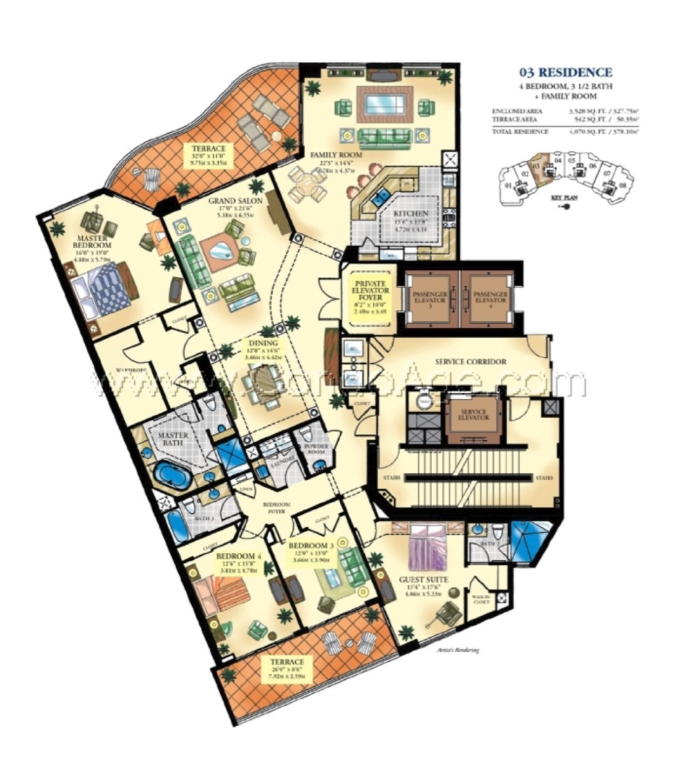 Floor plan image 03 - 4/3/1  - 3558 sqft image