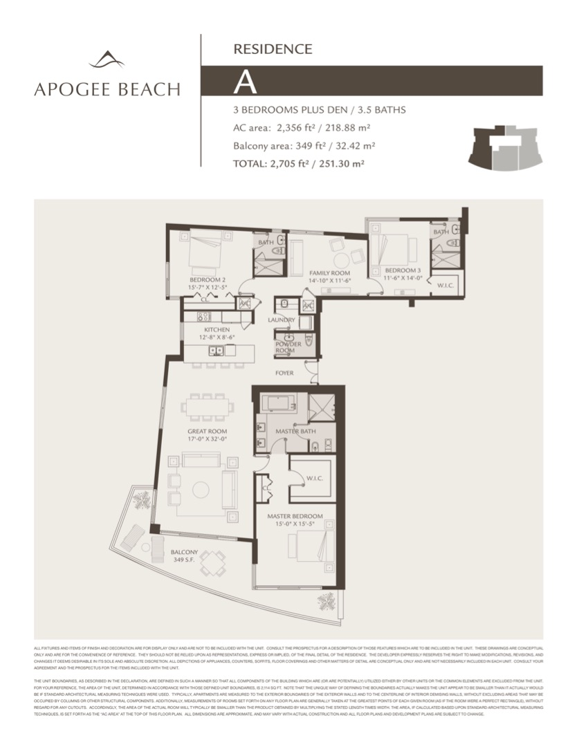 Floor plan image A - 3/3/1+Den  - 2352 sqft image