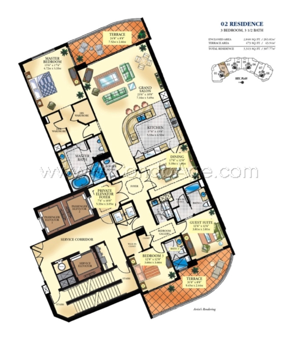 Floor plan image 02 - 3/3/1  - 2840 sqft image
