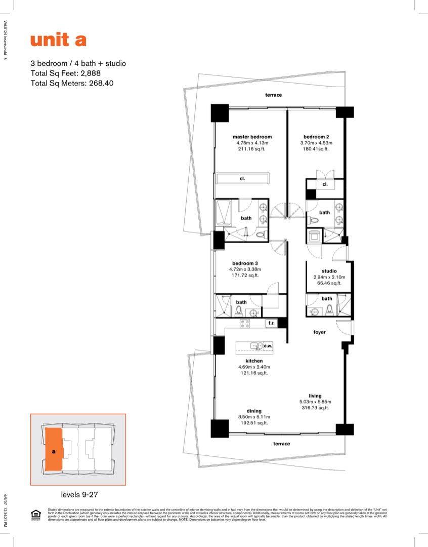 Floor plan image A - 3/4/Den  - 2888 sqft image