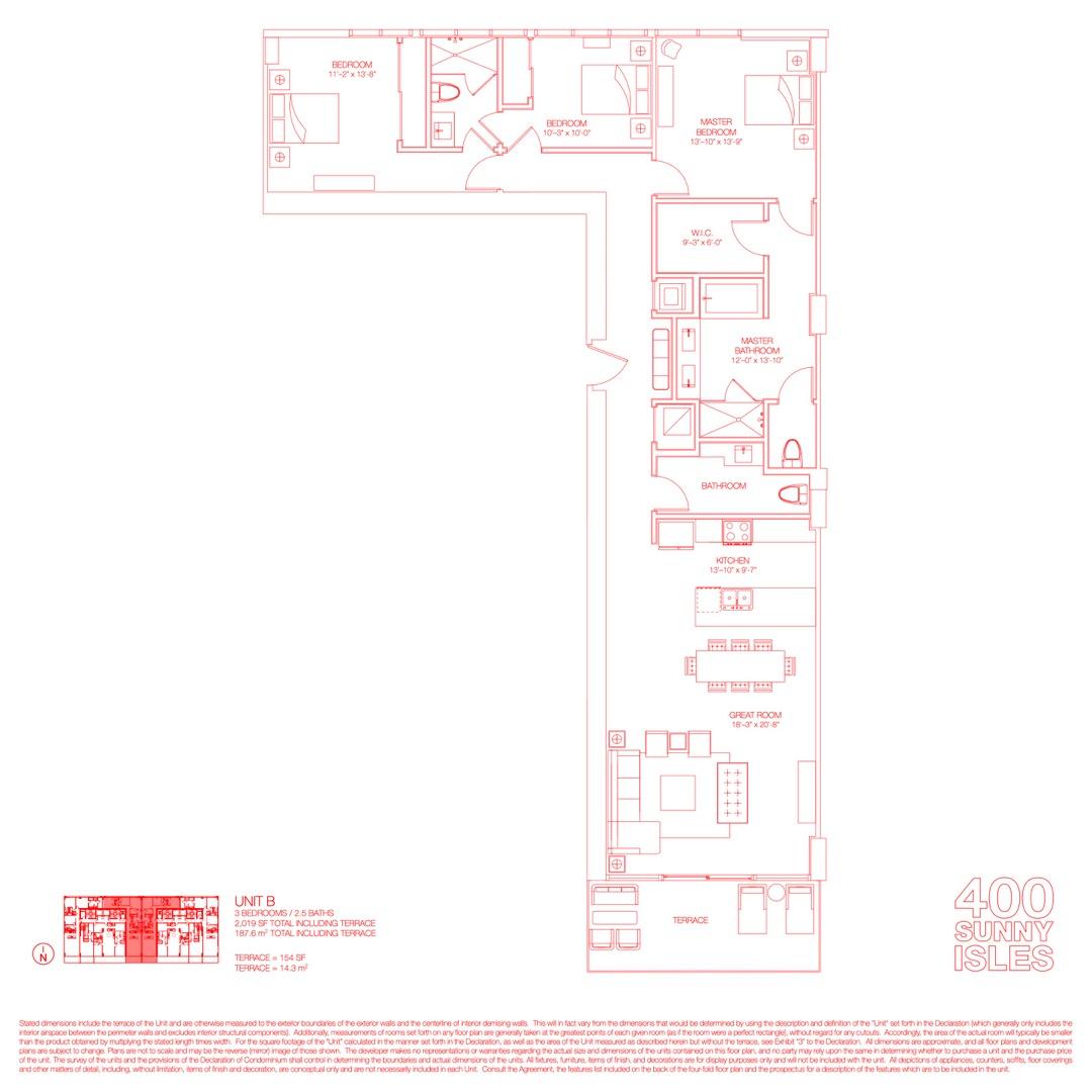 Floor plan image 05 - 3 Beds / 2.5 Baths  - 2019 sqft image