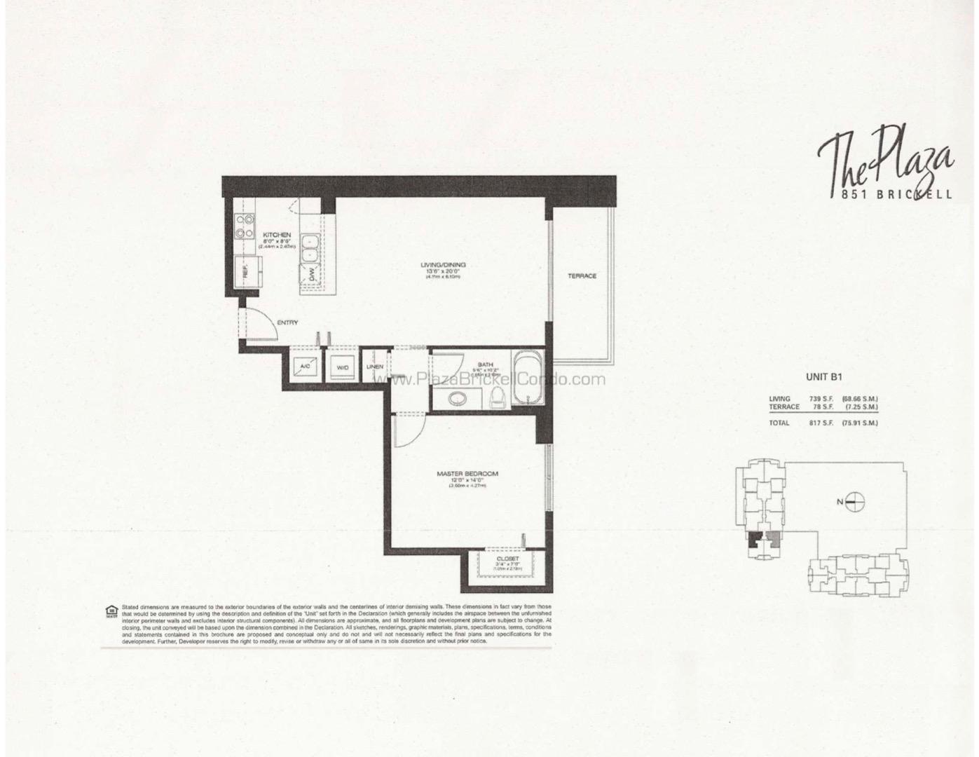 Floor plan image B1 - 1/1  - 750 sqft image