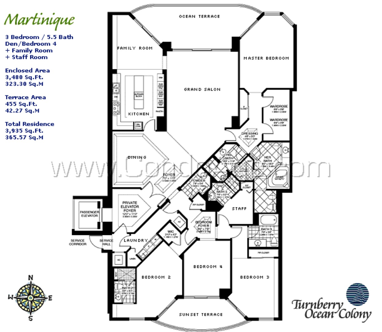 Floor plan image Martinique - 4/5/1  - 3480 sqft image