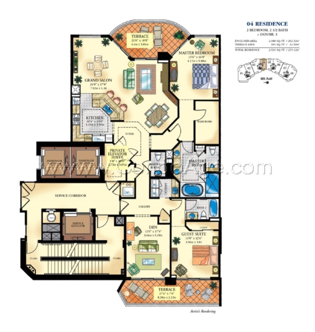 Floor plan image 04 - 2/2/1  - 2180 sqft image