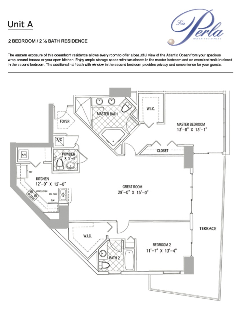 Floor plan image A - 2/2.5  - 1602 sqft image