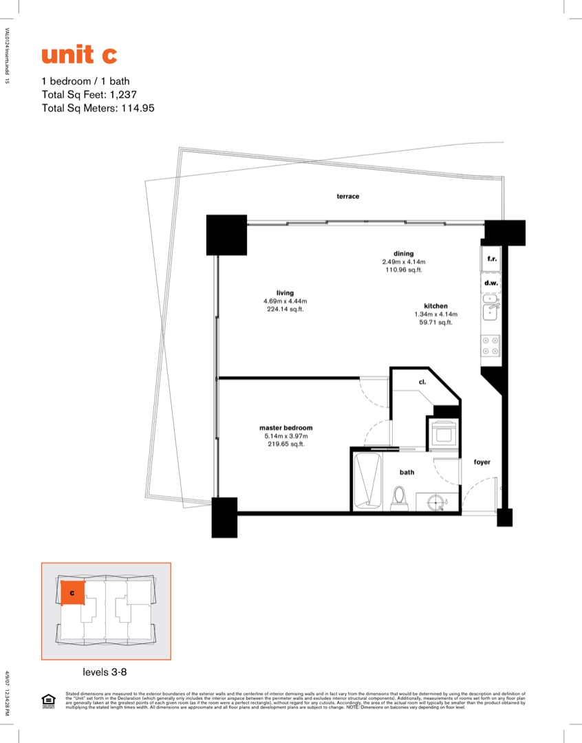 Floor plan image C - 1/1  - 1237 sqft image
