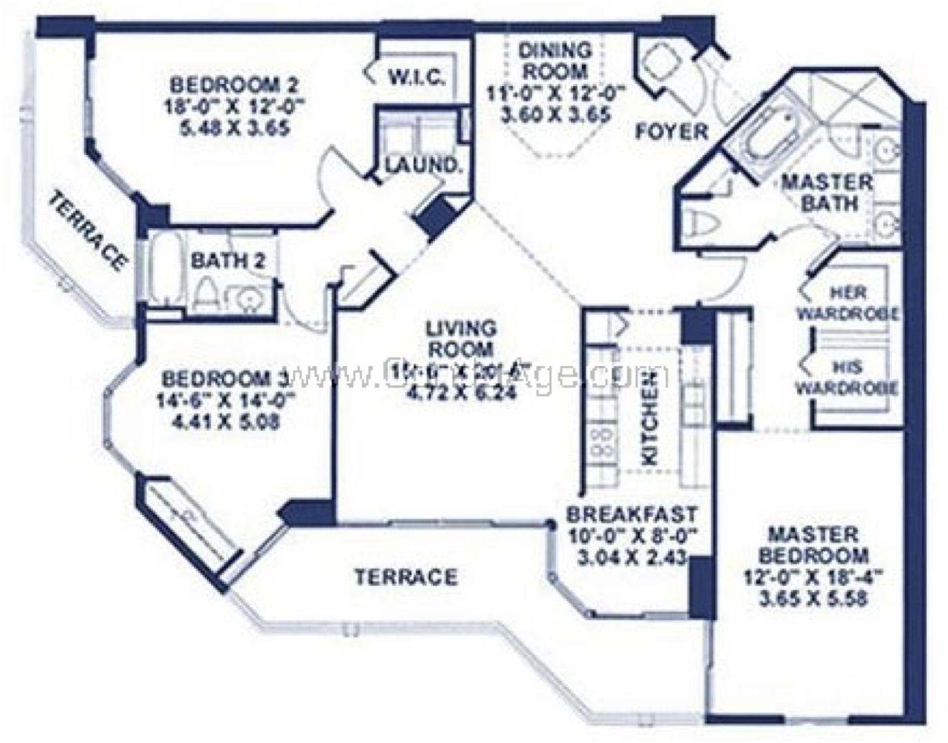 Floor plan image B - 3/2/Den  - 1865 sqft image