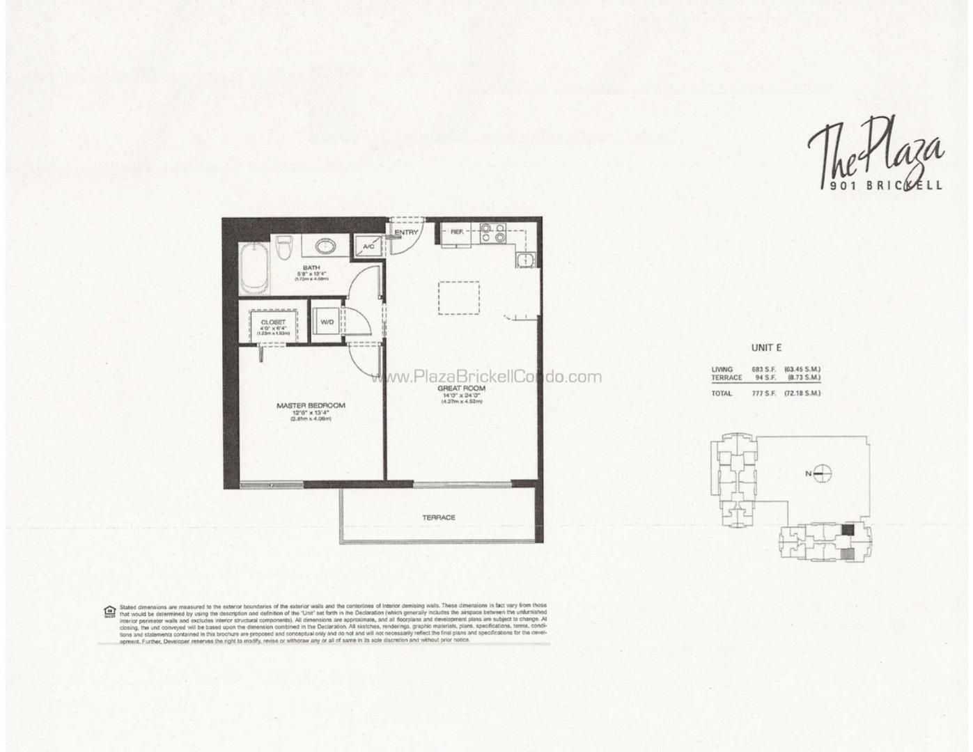 Floor plan image E - 1/1  - 638 sqft image