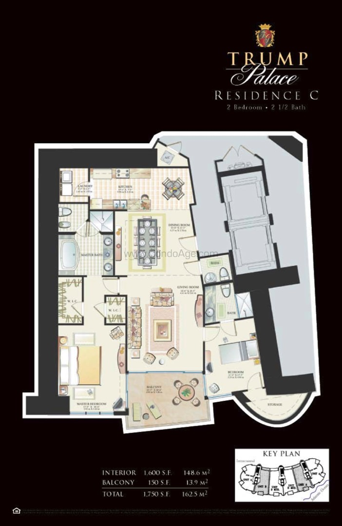 Floor plan image C - 2/2/1  - 1600 sqft image