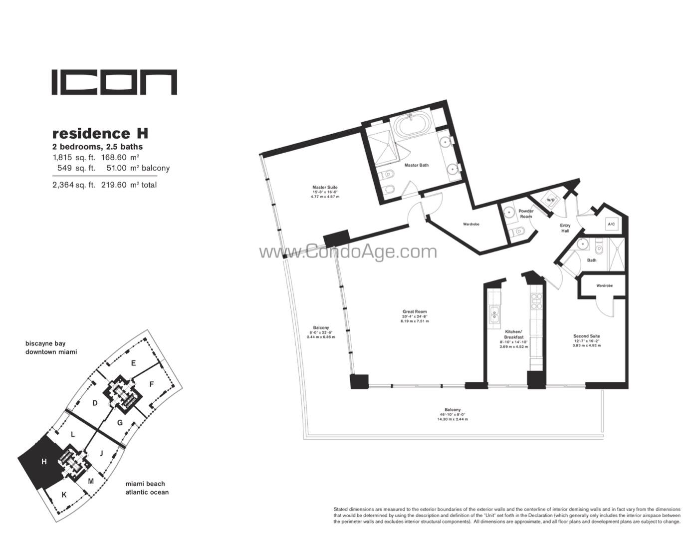 Floor plan image H - 2/2/1  - 1815 sqft image