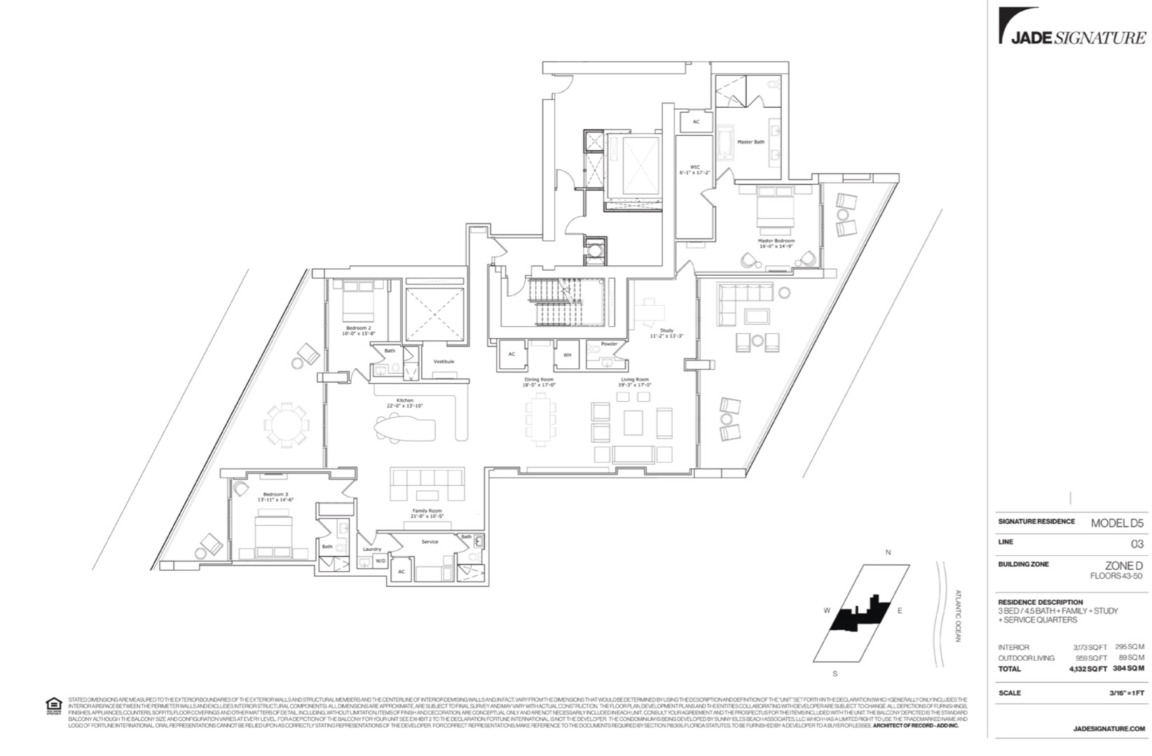 Floor plan image D5 - 3/4.5/FamilyRoom/Study/ServiceQuarters  - 3173 sqft image