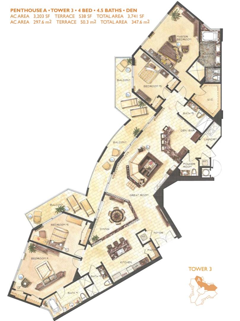 Floor plan image PHA - 4/4/1  - 3203 sqft image