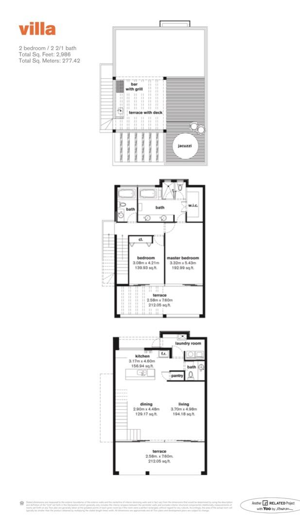 Floor plan image Villa - 2/2/1/Rooftop Jaccuzi  - 2986 sqft image