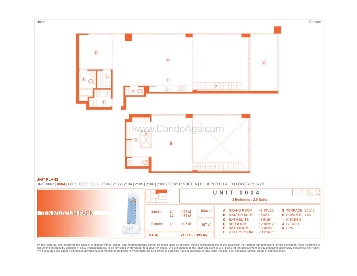 Floor plan image 01 - 2/2/1  - 1906 sqft image