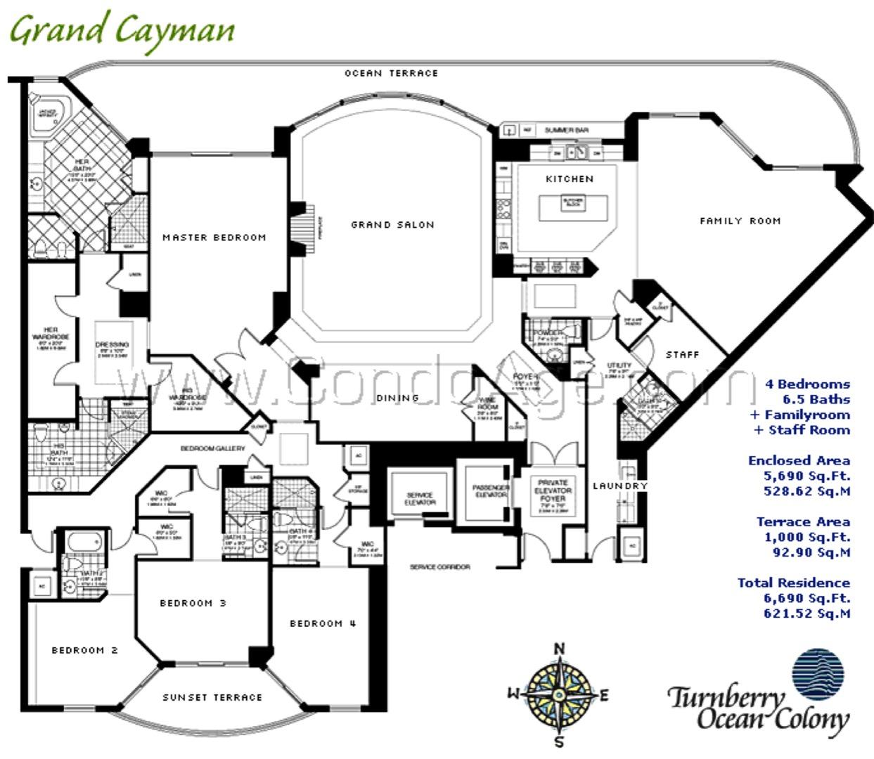 Floor plan image Grand Cayman - 4/6/2  - 5690 sqft image