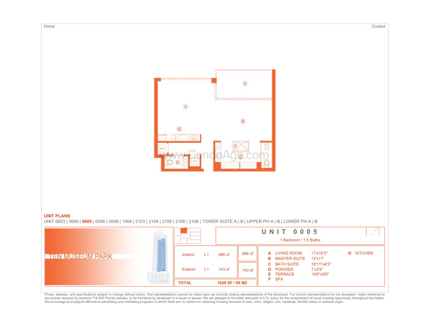 Floor plan image 05 - 1/1/1  - 866 sqft image
