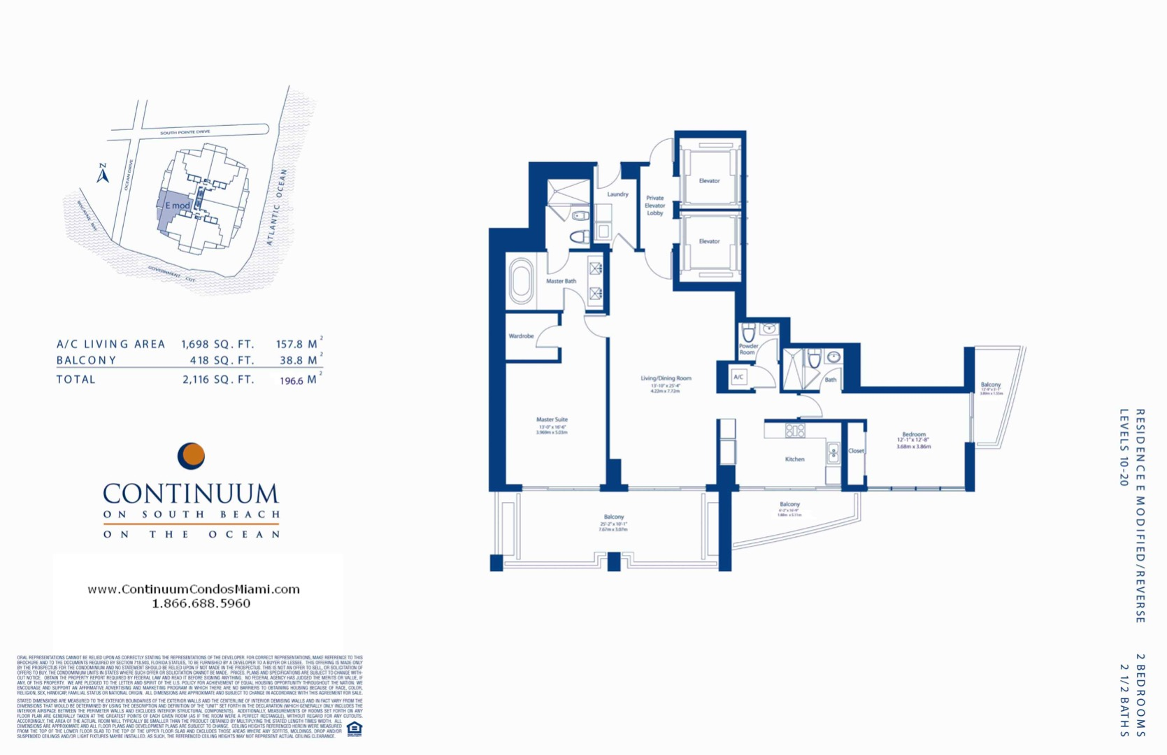 Floor plan image E-modified-reversed - 2/2/1  - 1698 sqft image