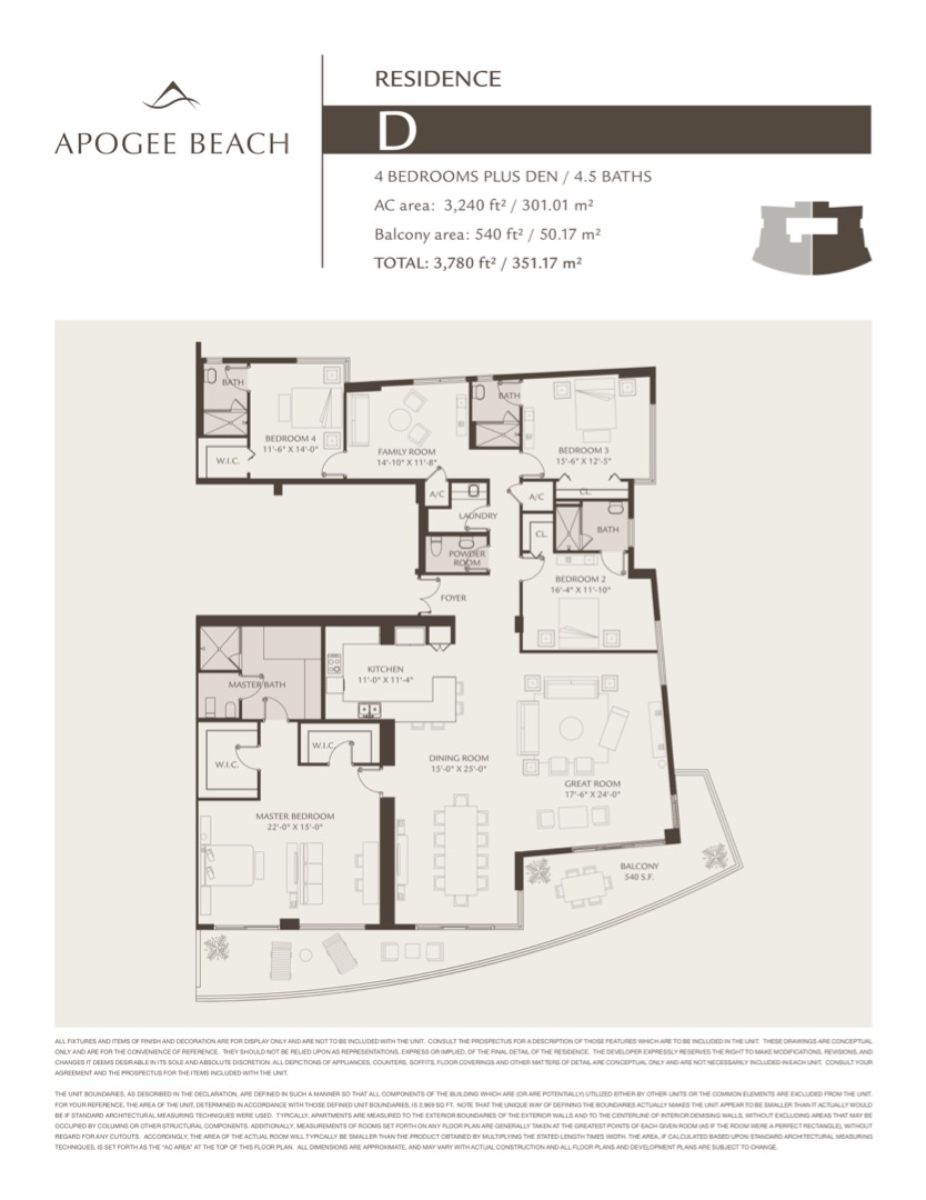 Floor plan image D - 4/4/1+Den  - 3250 sqft image