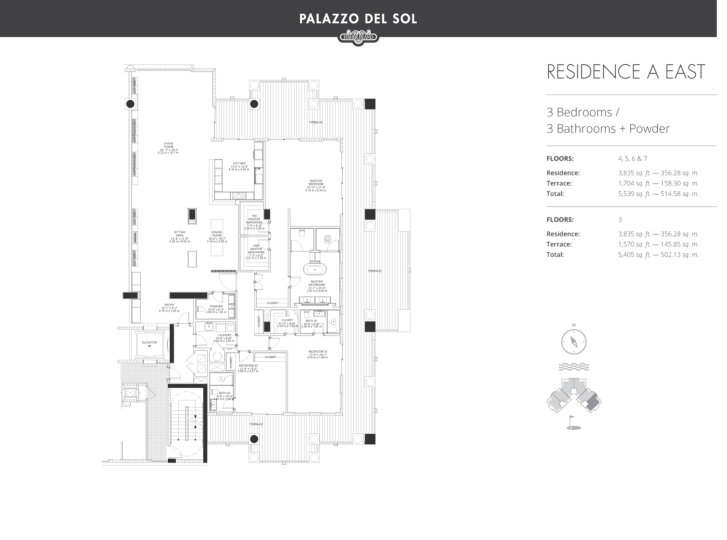 Floor plan image A East 4-5 - 3/3  - 3835 sqft image