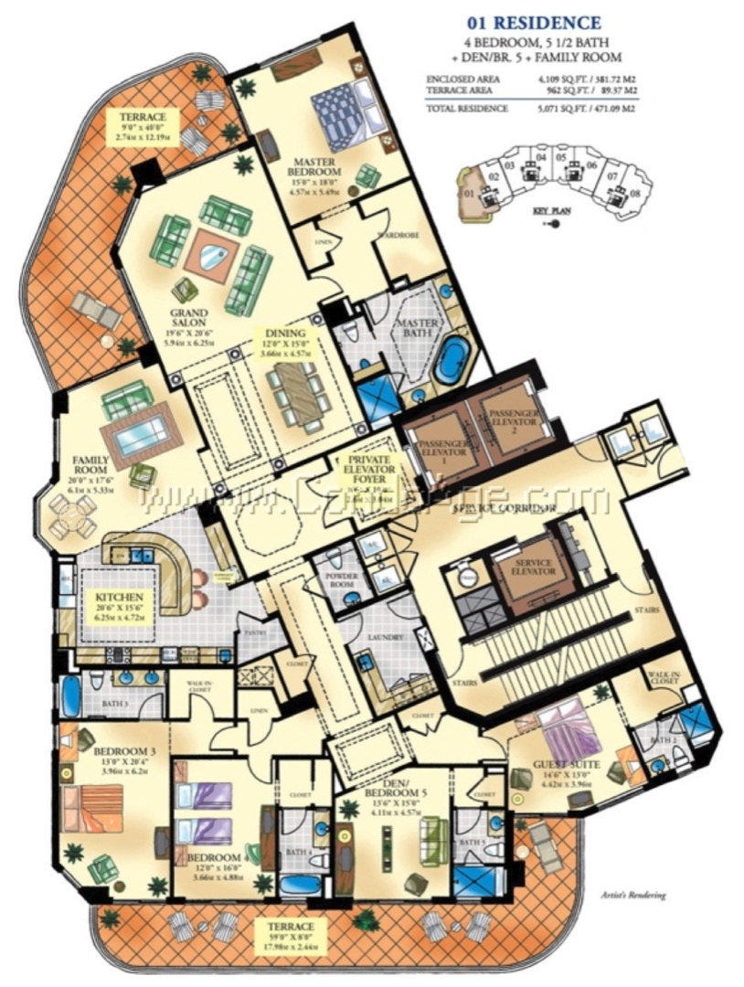 Floor plan image 01 - 4/5/1  - 4109 sqft image