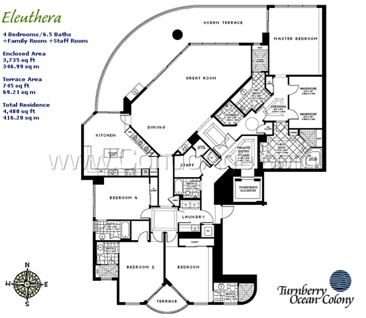 Floor plan image Eleuthra - 4/6/1  - 3735 sqft image