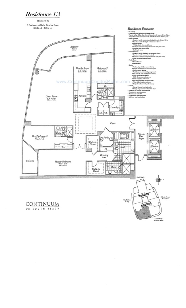 Floor plan image 13 - 3/3/1  - 3335 sqft image