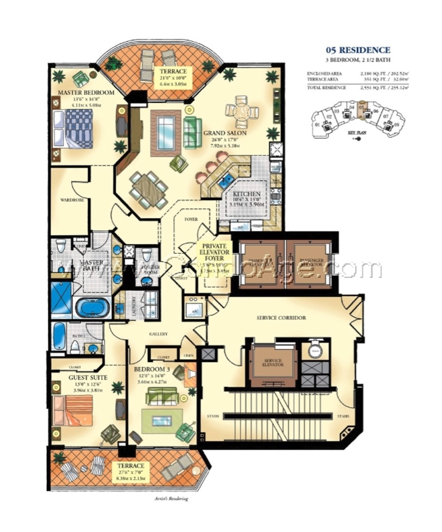 Floor plan image 05 - 3/2/1  - 2180 sqft image