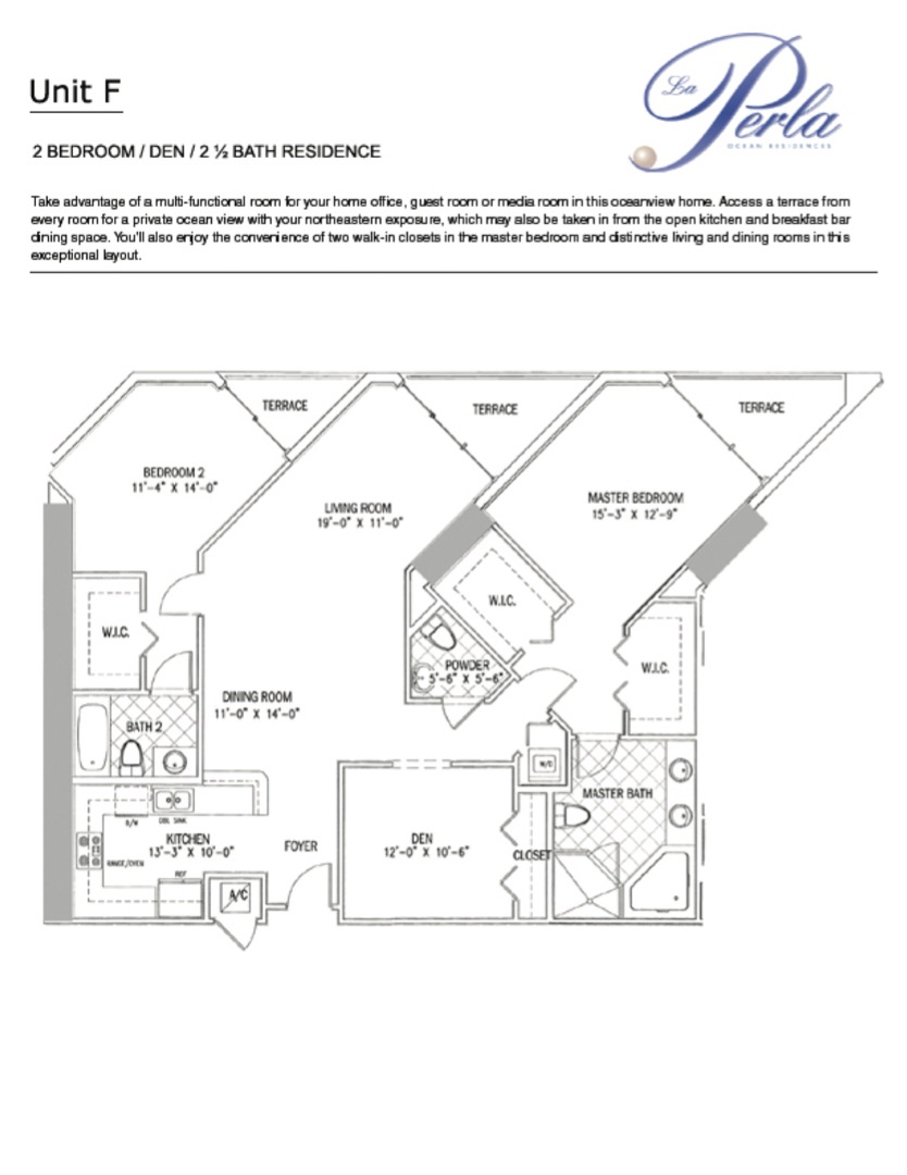 Floor plan image F - 2/2.5  - 1637 sqft image