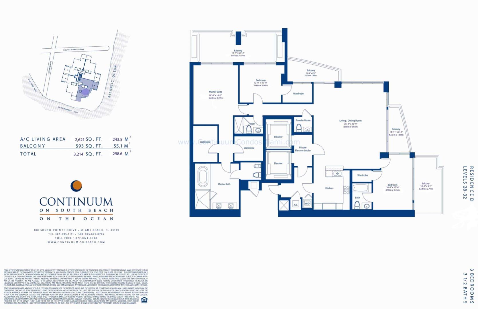 Floor plan image D - 3/3/1  - 2621 sqft image