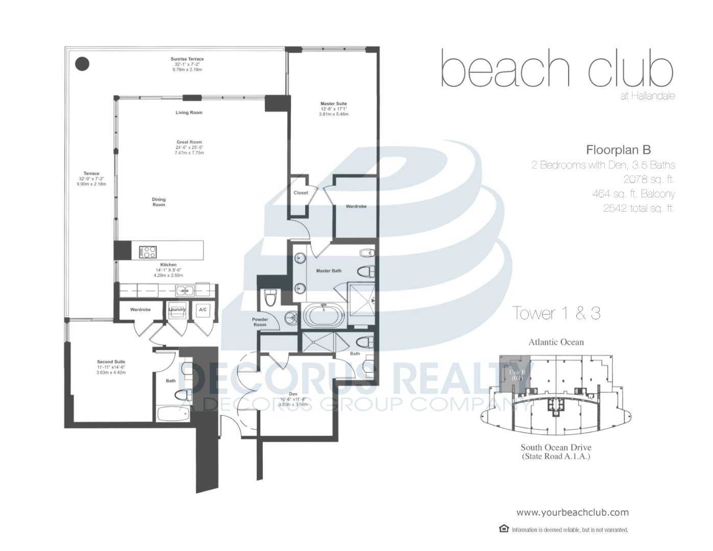 Floor plan image 01-04 - 2+Den/3/1  - 2078 sqft image