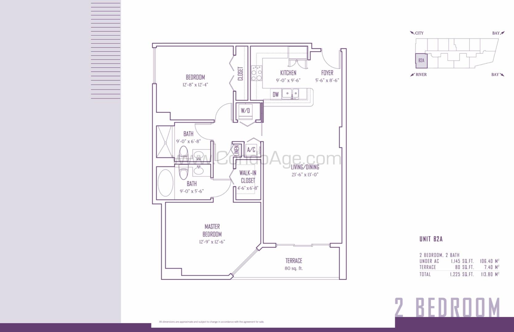 Floor plan image B2A - 2/2  - 1145 sqft image