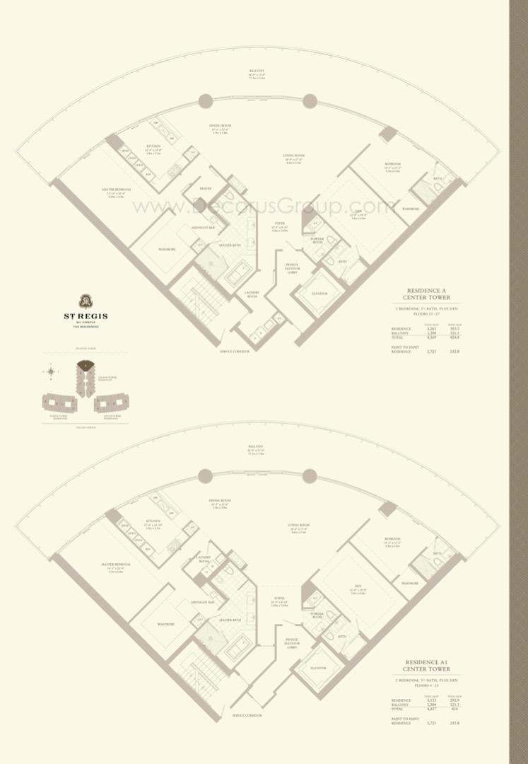 Floor plan image A1 - 2/3.5 + Den  - 4457 sqft image