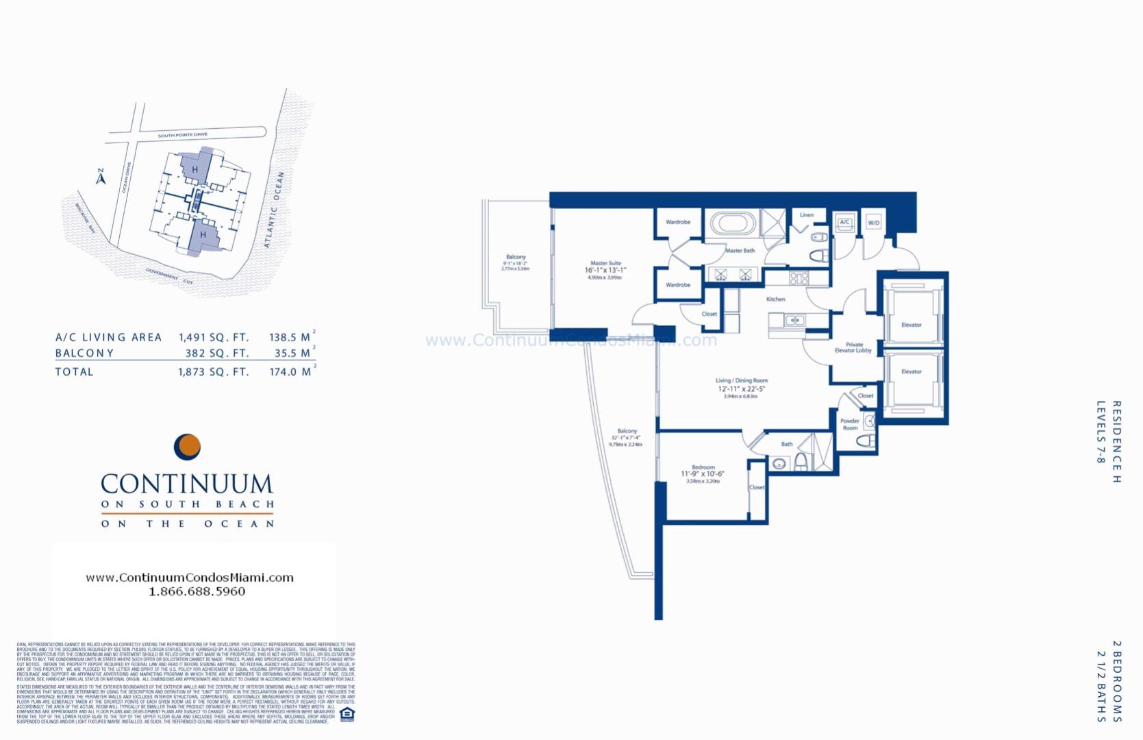 Floor plan image H-MOD - 2/2/1  - 1491 sqft image