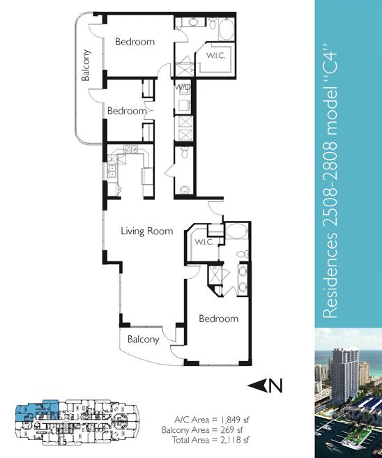 Floor plan image C4 - 3/2/1  - 1849 sqft image