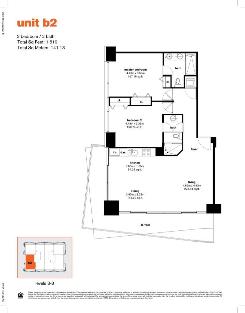 Floor plan image B2r - 2/2  - 1519 sqft image