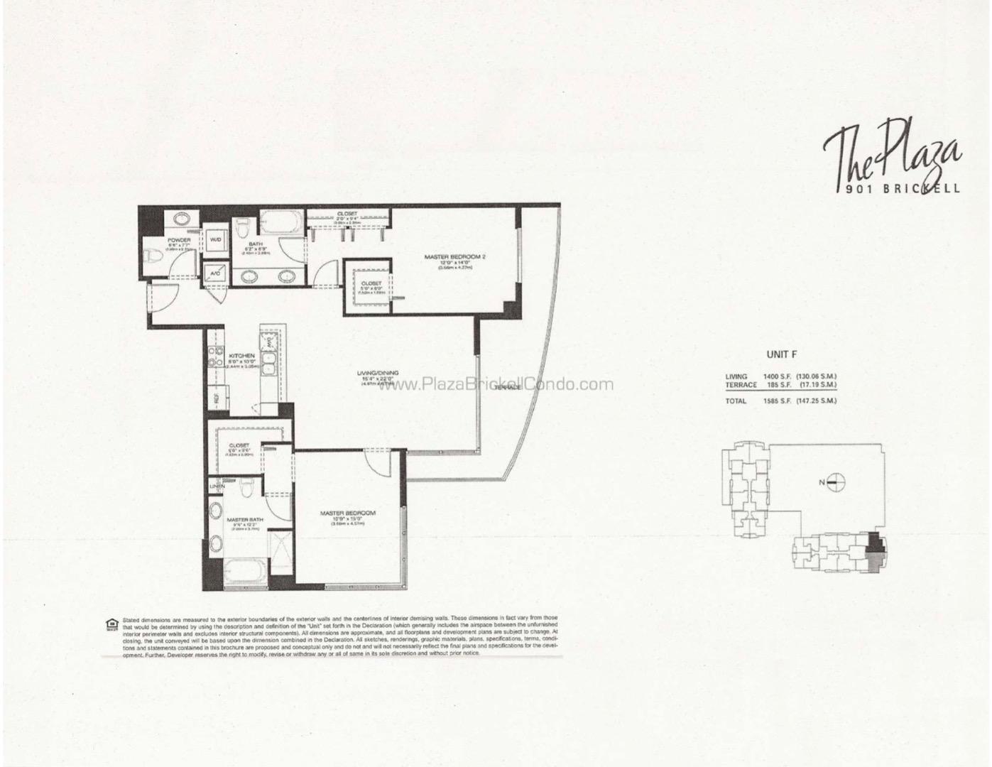 Floor plan image F - 2/2/1  - 1400 sqft image